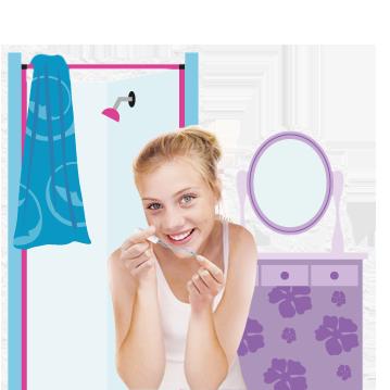 Kuva nuori nainen, jolla on ob® tamponi kädessä